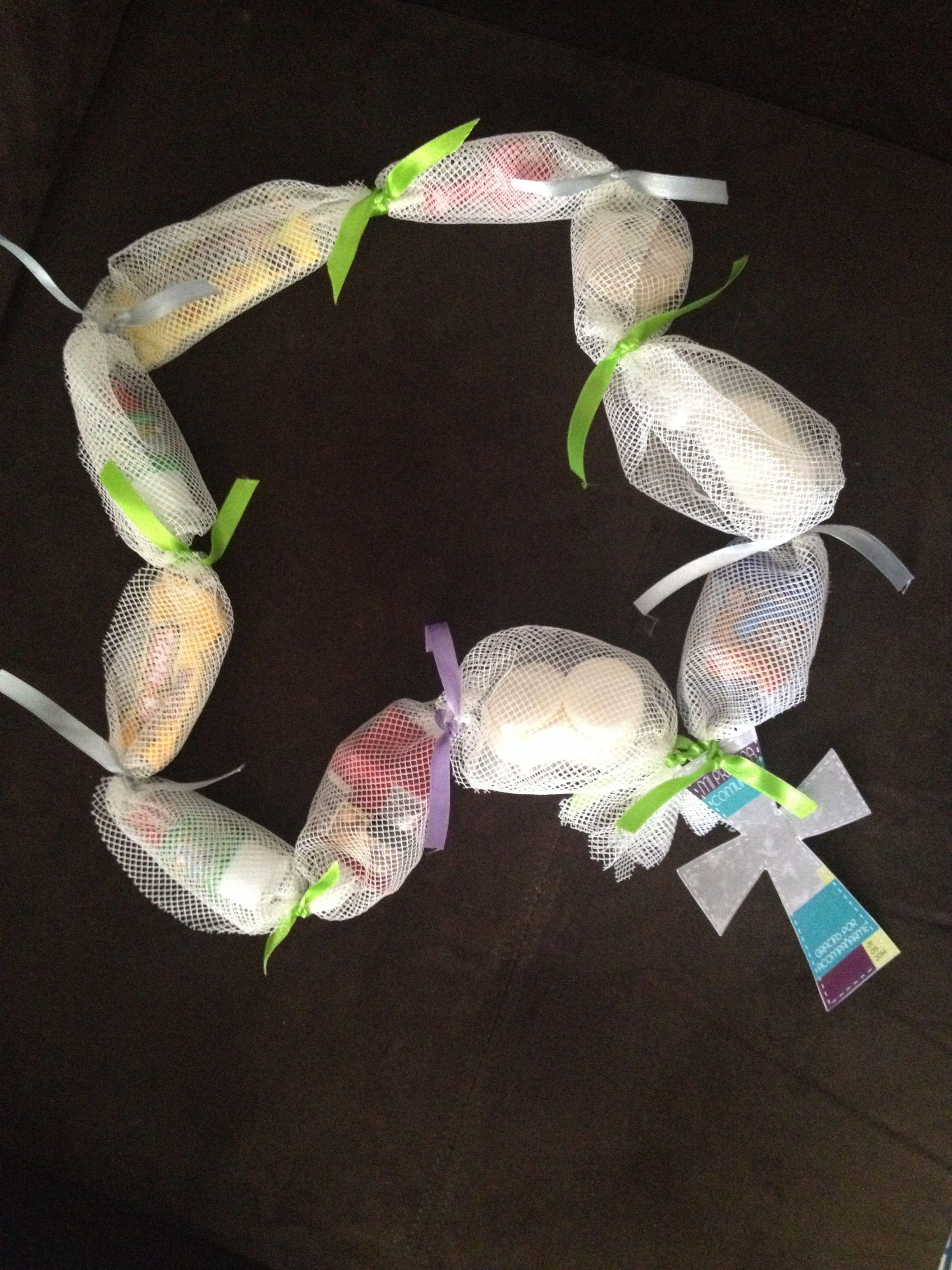 First munion favor bags 1st munion Pinterest