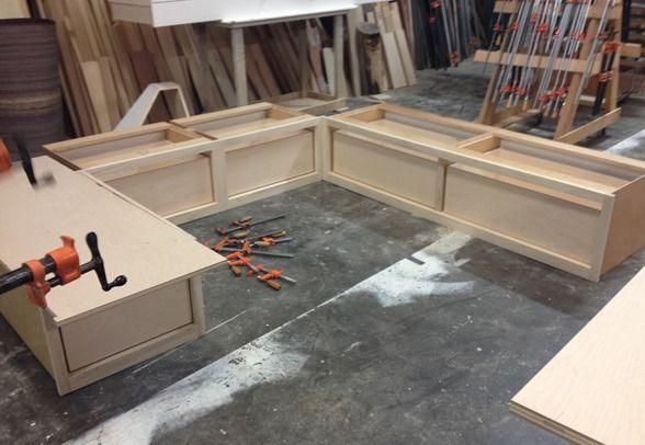 DIY built in banquette seating. #DIY #banquetteseating @Centsational Blog Blog Girl