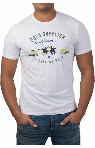 0fc6f7b7fa La Martina La Martina ® T-Shirt White, Polo Supplier | mis diseños ...
