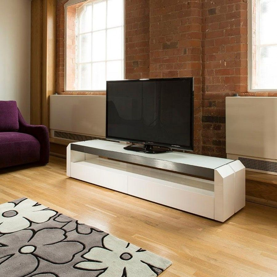 White Gloss Furniture Living Room Television Cabinet Unit White Gloss Glass Top 20 Metres Wide 701f
