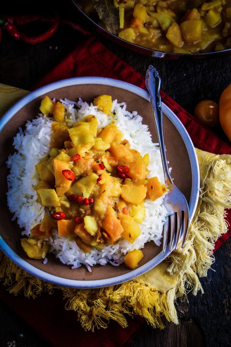 Decorating kitchen door meals images : Cooking from the Garden // Bangladeshi Yellow Pumpkin Curry ...