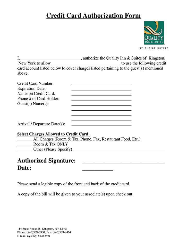 Credit Card Authorization Form Hotel Fill Out And Sign Printable Pdf Template Signnow For Hotel Credit Ca Hotel Credit Cards Printable Signs Pdf Templates