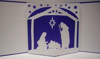 Download Nativity Pop Up Card | Cricut christmas cards, Pop up ...