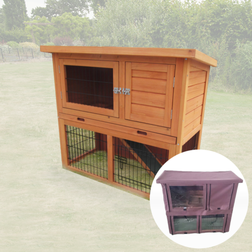 MONZA RABBIT HUTCH OUTDOOR WIH RUN 2 TWO TIER GUINEA PIG FERRET AND BUNNY | eBay