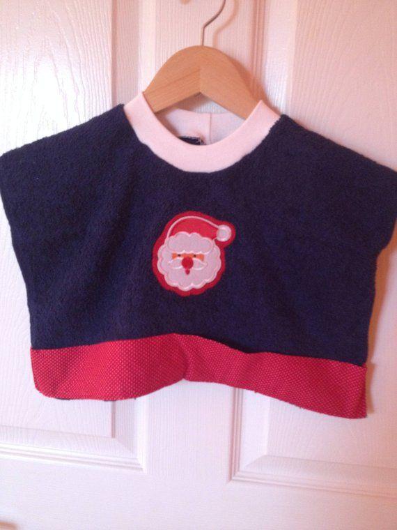 Baby Bib Pullover Bib Baby Shower Gift Santa Claus Art Smock Pullover Smock  Bib Munch n Mop Bibs 162f6fe754