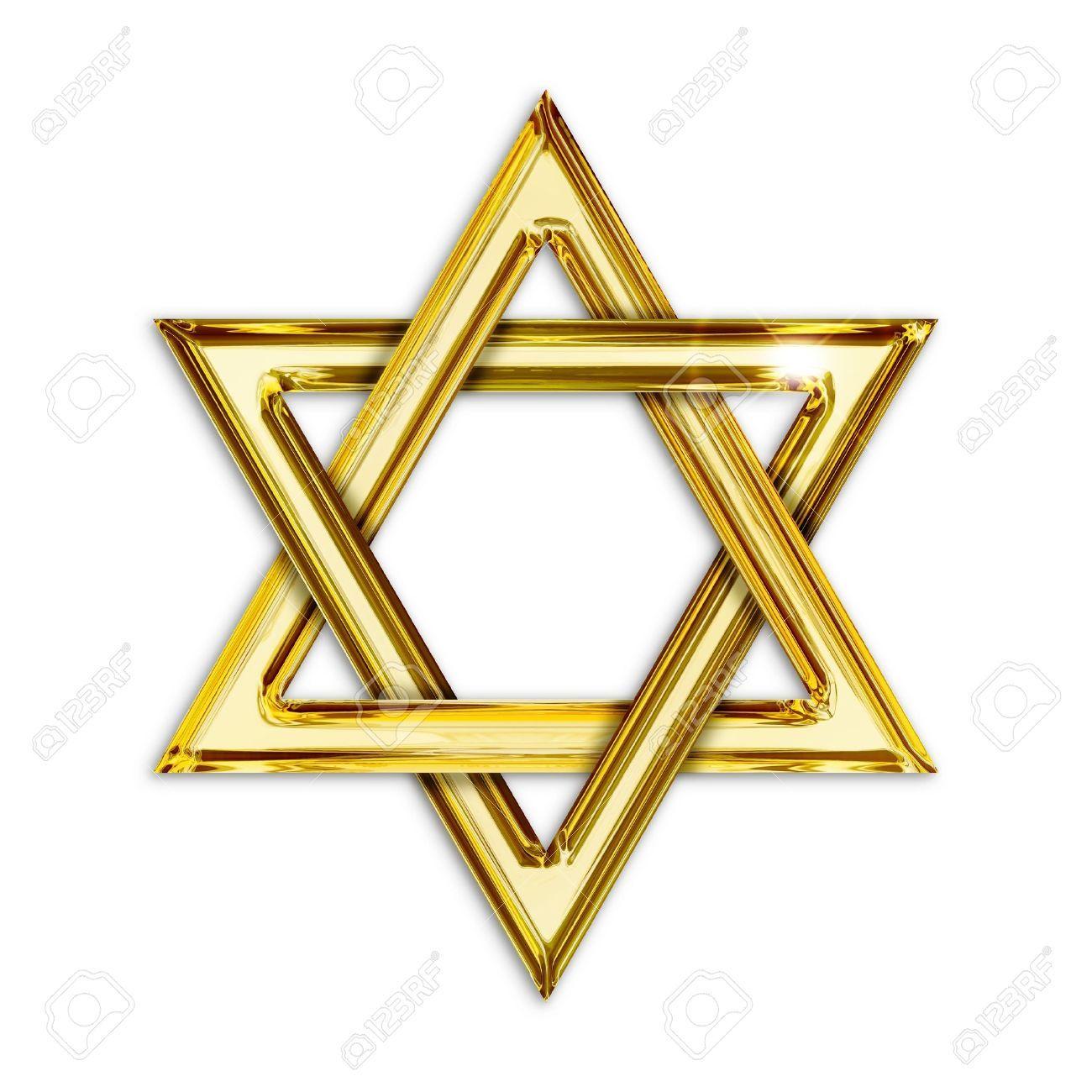 19601053 Illustration Of Golden Hexagram On White Background Stock Illustration Jpg 1300 1300 Estrella De David Tarjeta Empresa Estrellas