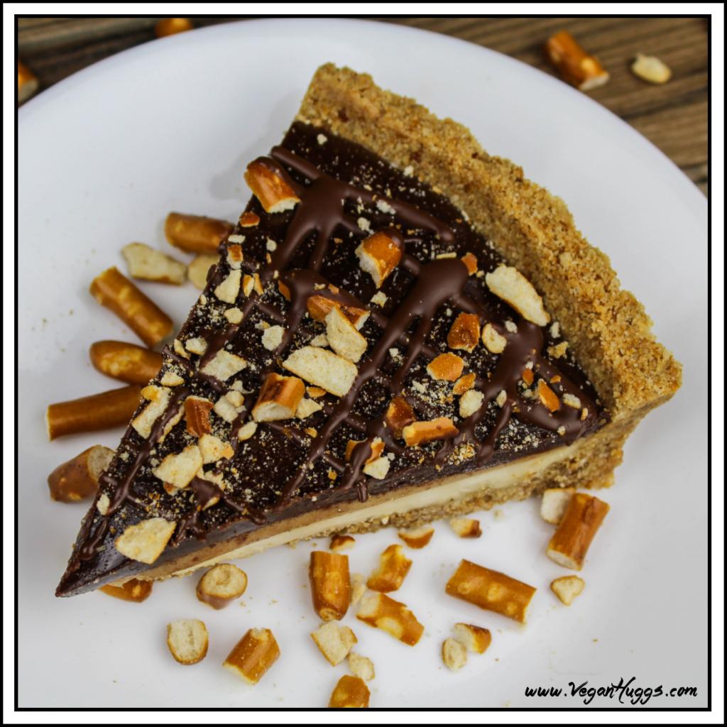 Vegan Snickers Cream Pie