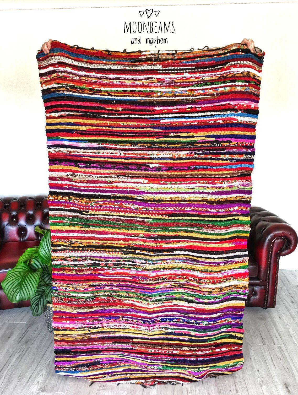 Delicious Bohemian Rag Rug With Delightful Velvet Feel Https
