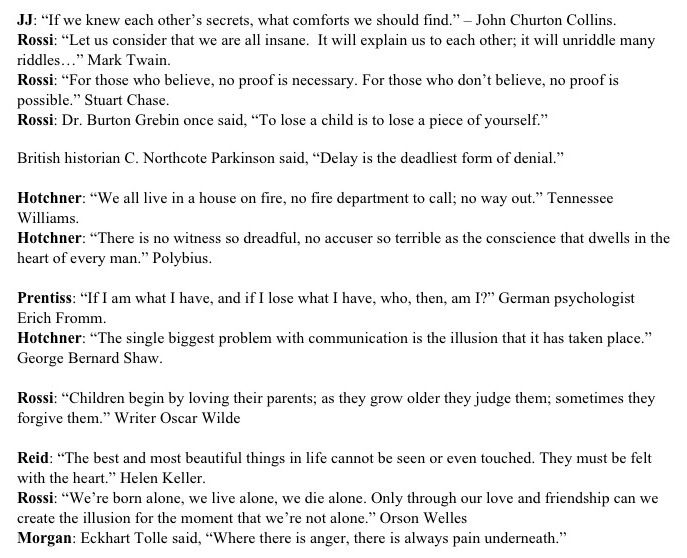 Quotes Criminal Minds Pinterest Criminal minds - business architect sample resume