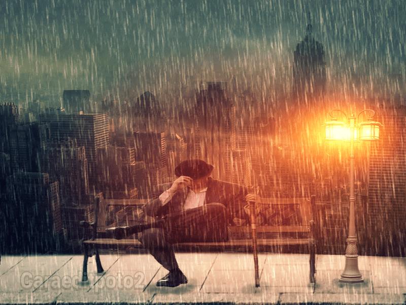 edit foto alone boy efek hujan dengan aplikasi picsay pro android