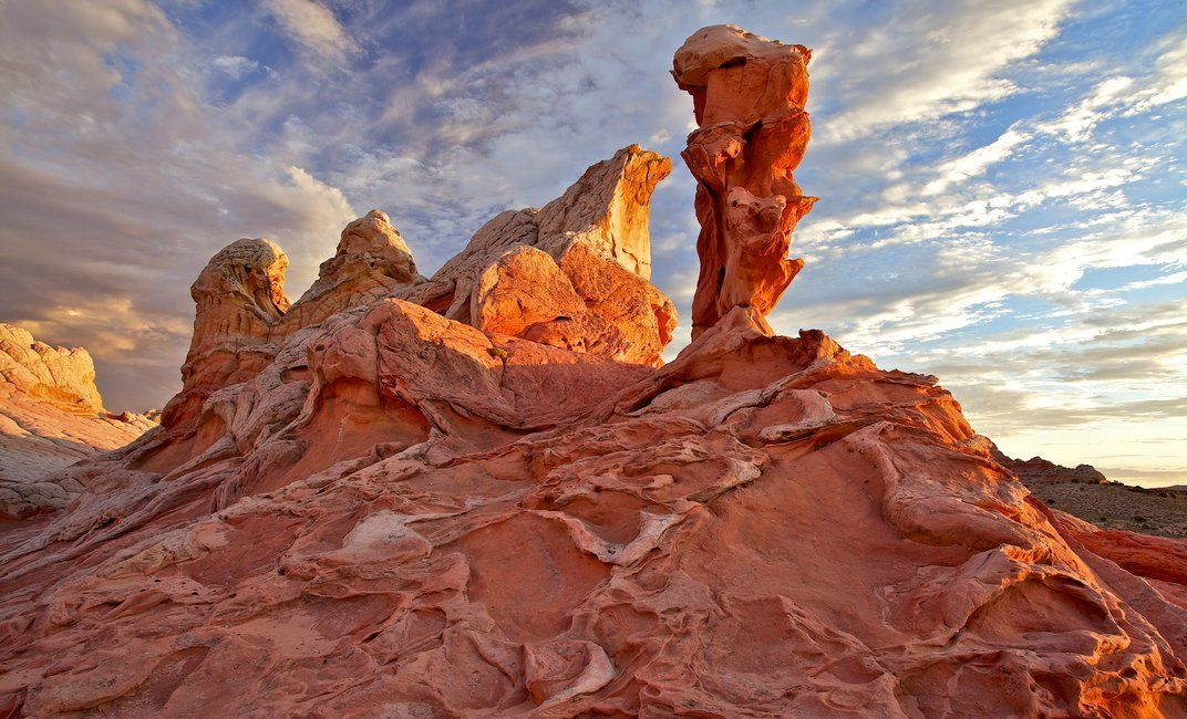 """White Pocket, Paria Canyon-Vermilion Cliffs Wilderness in Arizona. By Richard Ansley, Salt Lake City, Utah: """"As the sun dipped lower, the reflected light I was hoping for revealed the many nooks and crannies in the twisted surface, creating the scene I wanted to capture."""" (Richard Ansley, all rights reserved)"""