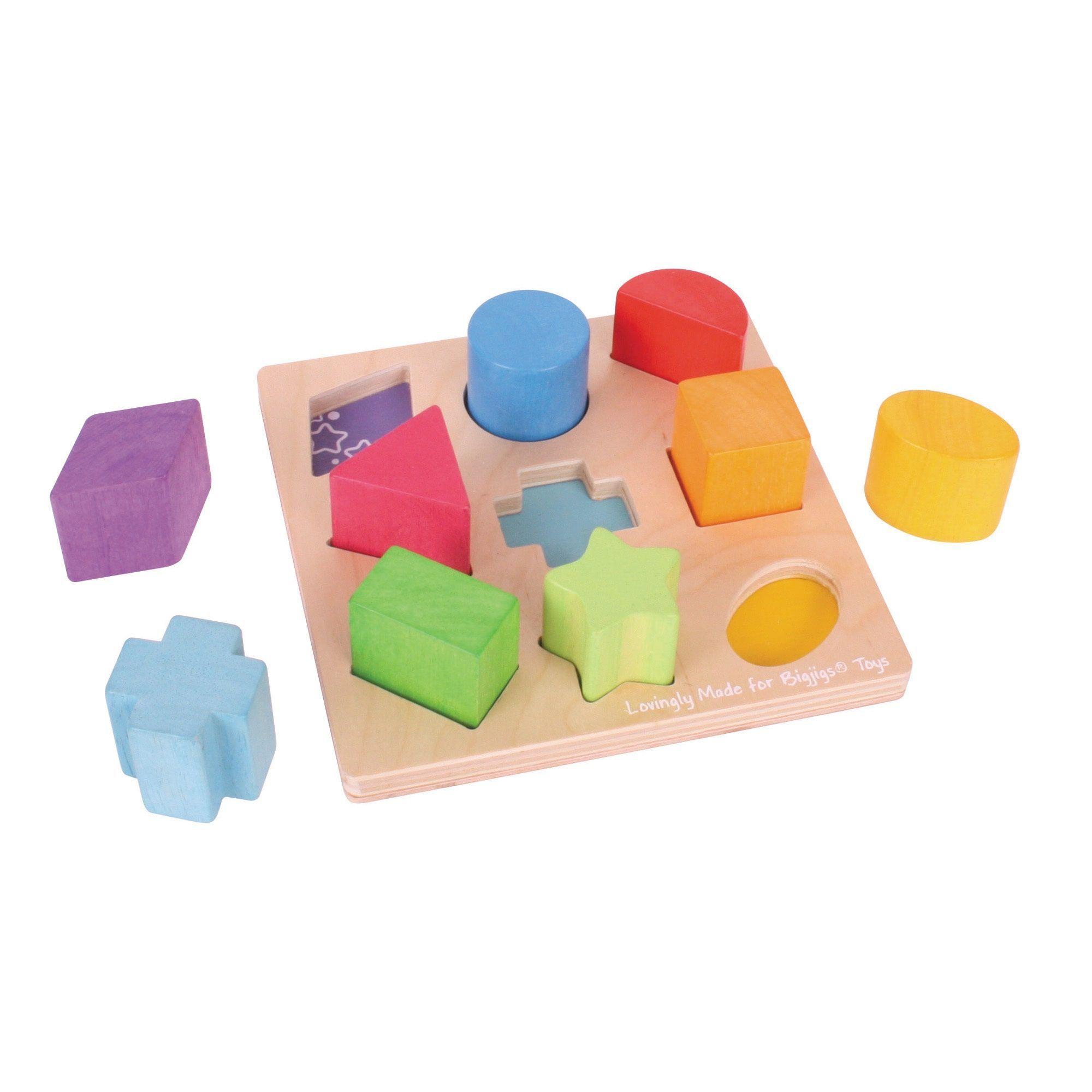 Bigjigs Toys Zuordnungsbrett Formen