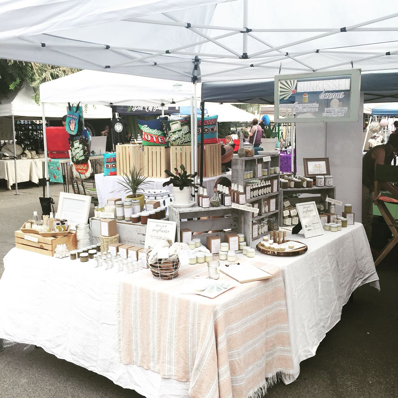 Craft Fair Retail Display Natural Skincare Handcrafted Skin Care