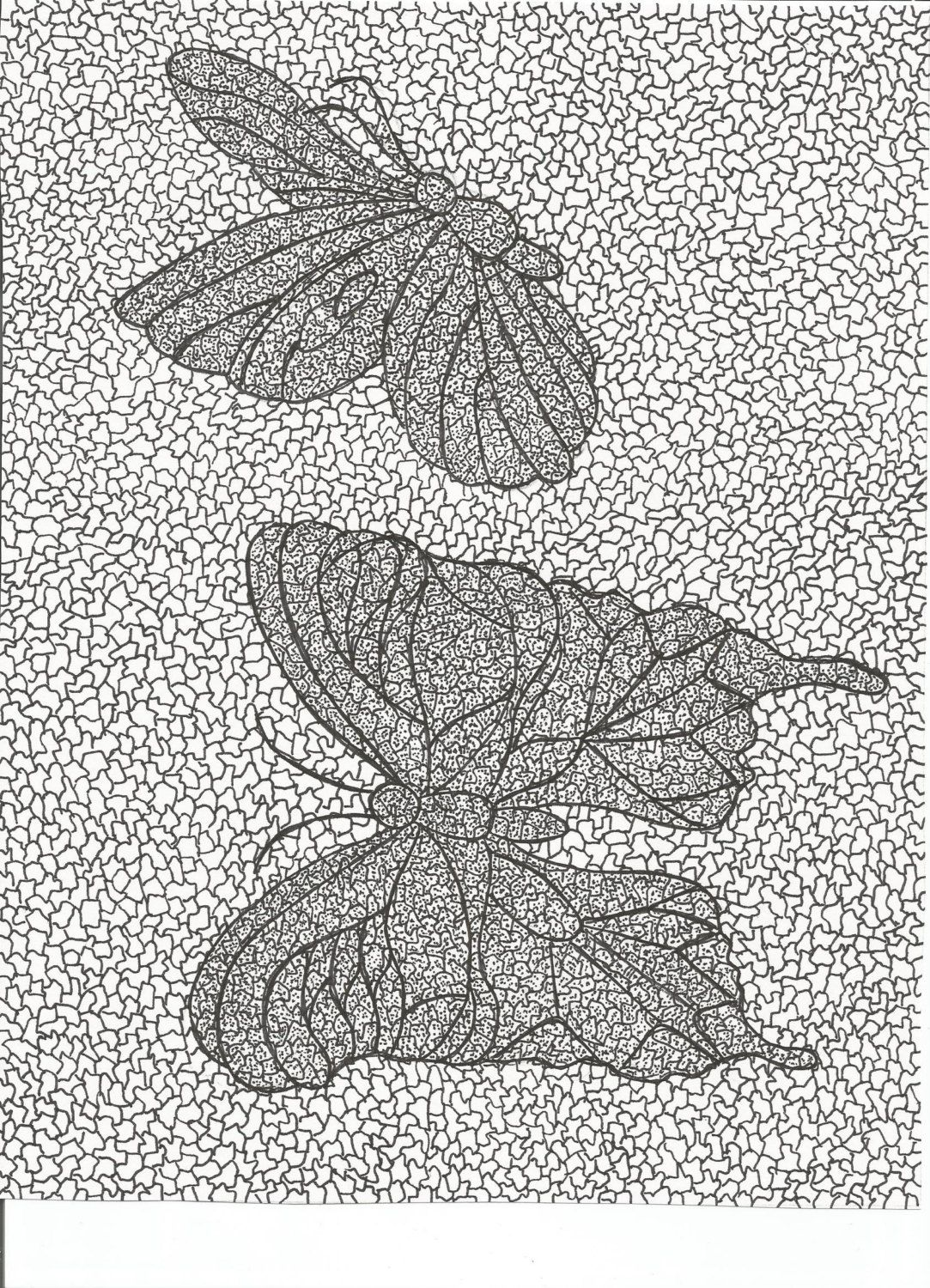 Stained glass butterfly coloring pages - Butterfly Coloring Page Hand Drawn