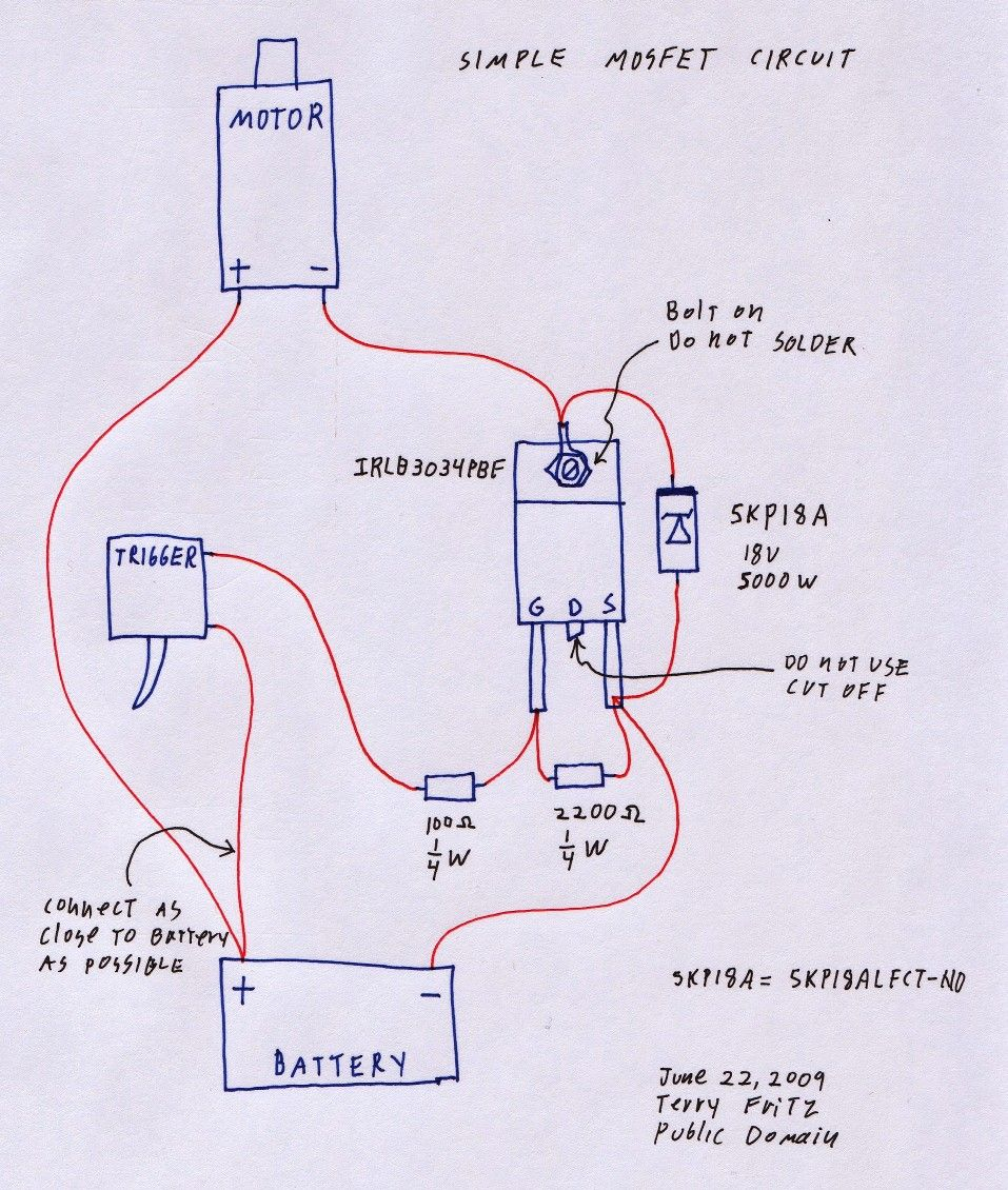 [SCHEMATICS_48YU]  Basic MOSFET wiring | Electronics mini projects, Basic, Airsoft | Airsoft Wiring Diagram |  | Pinterest