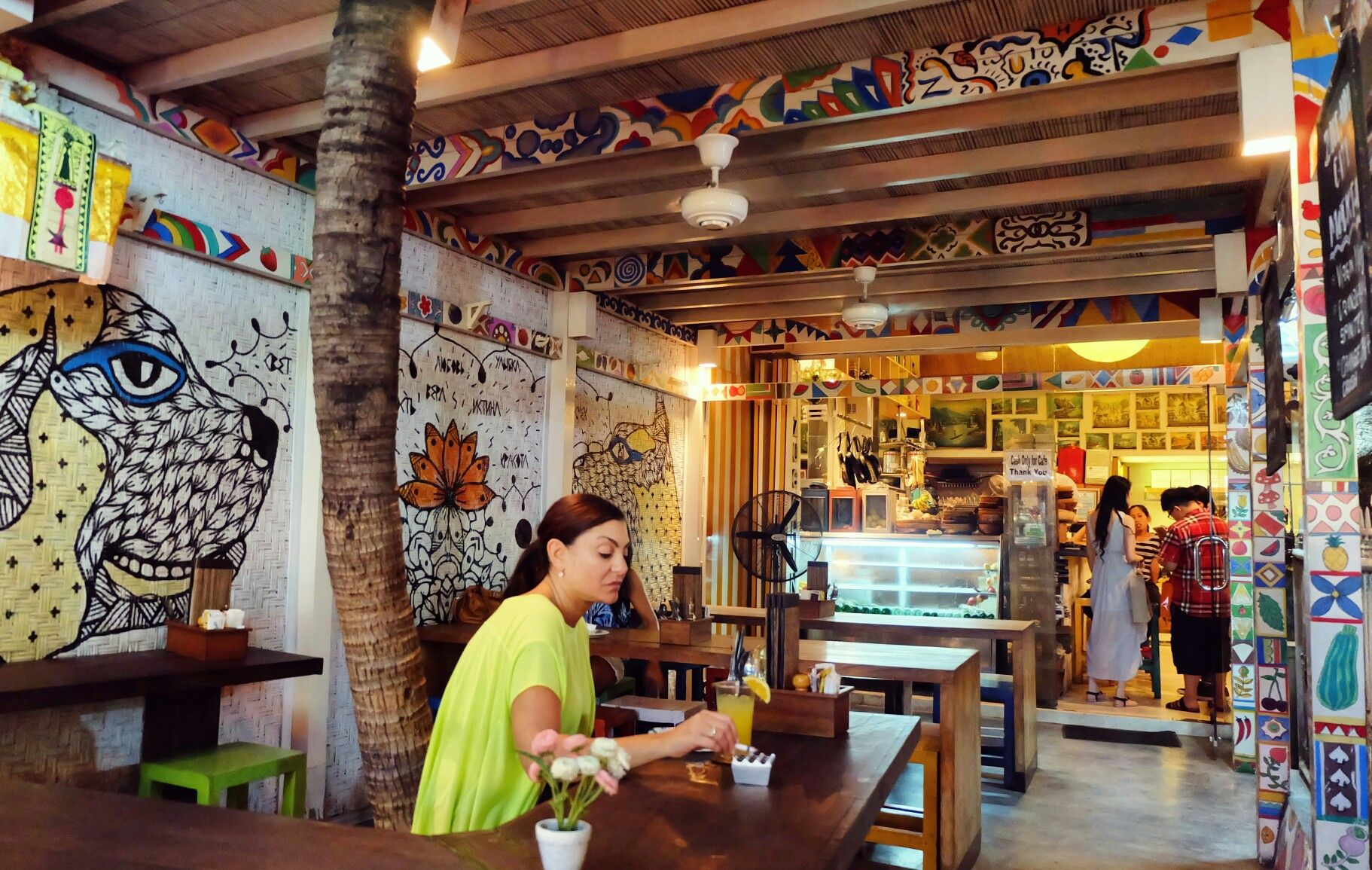 A very cozy place to hang out in Seminyak, Bali. Look at