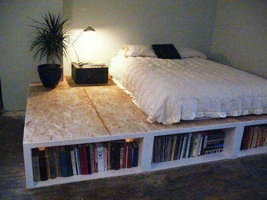 Cama librero | hogar | Pinterest | Libreros, Camas y Almacenamiento