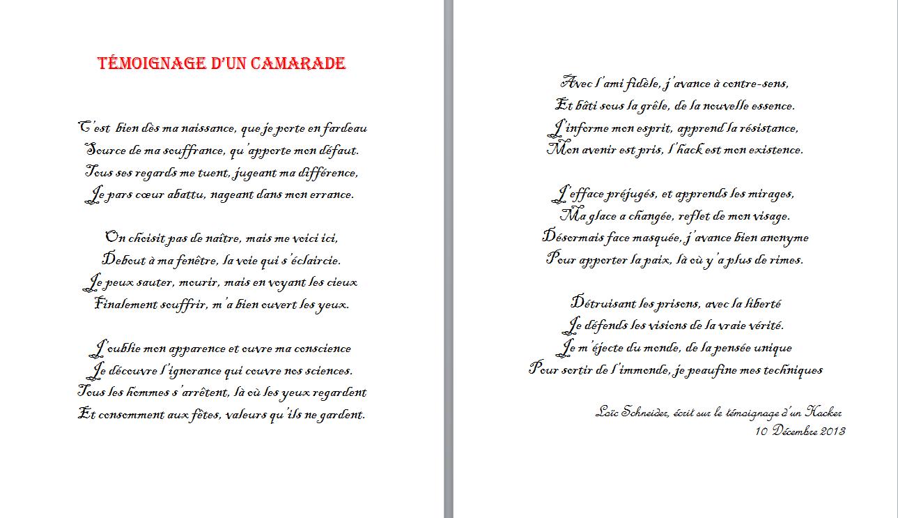 77 Temoignage D Un Camarade Poeme Poesie Temoignage Personalized Items Person