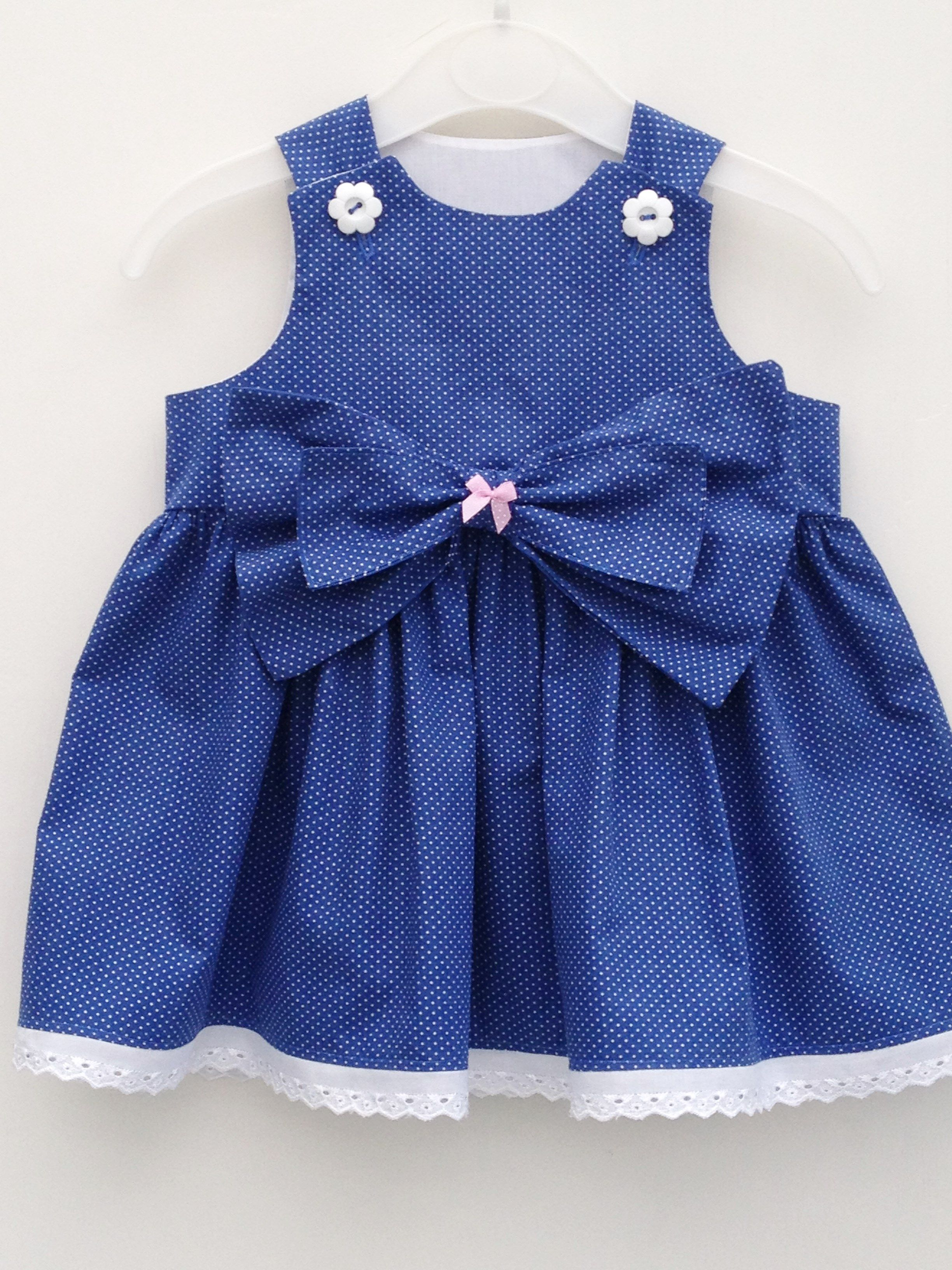 865537256ec Handmade polka dot baby girl party dress size 3-6 months