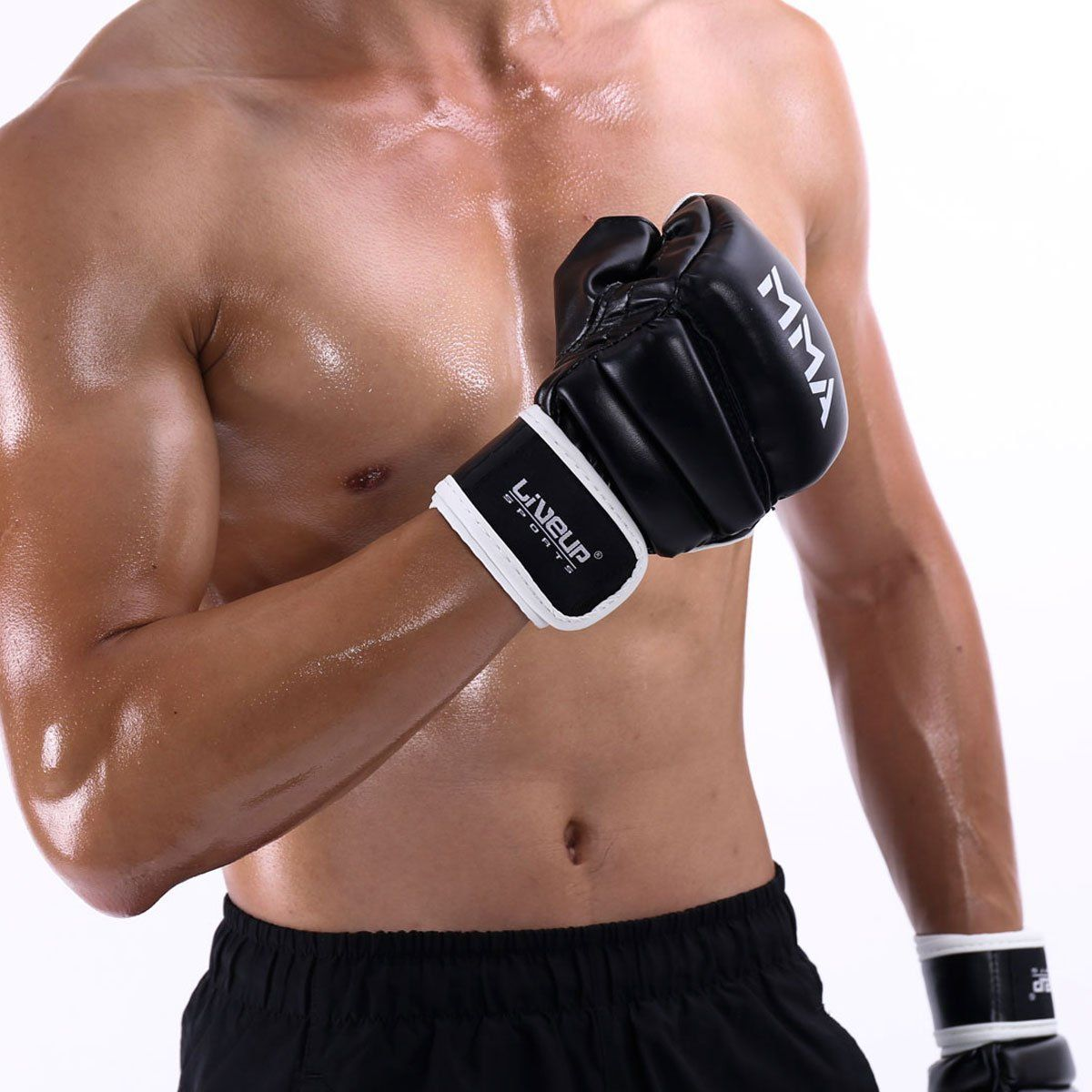 Liveup sports mma boxing gloves pu leather