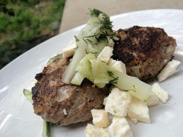 MUSING RI etc.: Lamb Patties and Cucumber Slaw