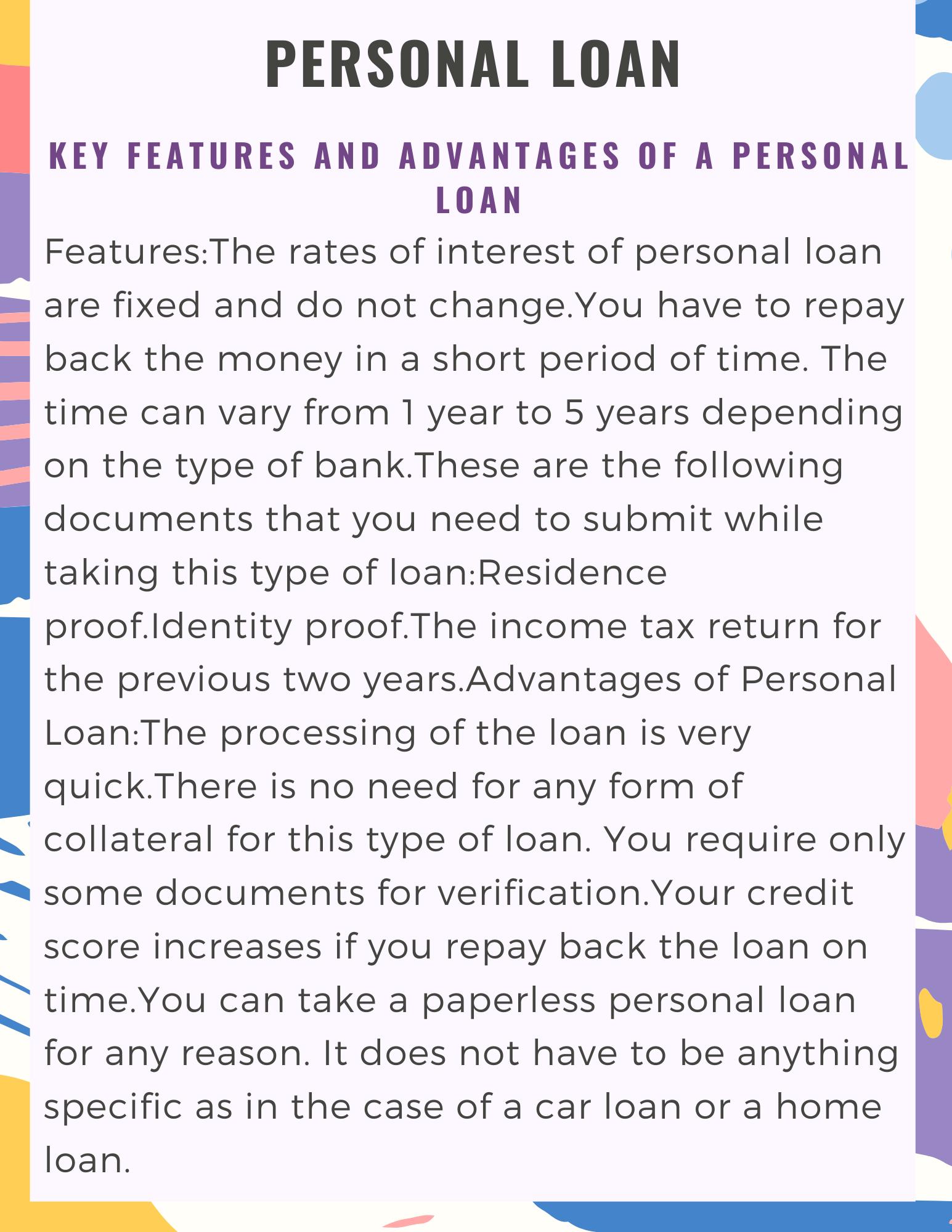 Personal Loan Personal Loans Loan Personal Loans Online