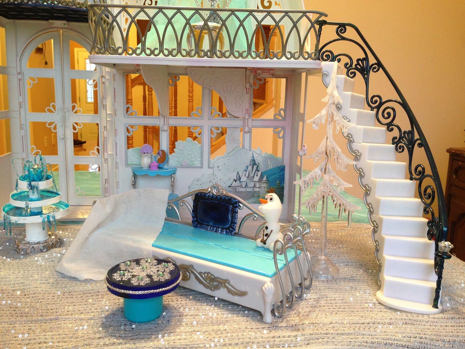 Princess Elsa Frozen Castle One Of A Kind Doll House Disney