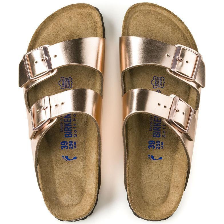 6b722da2a39 Birkenstock Arizona Soft Footbed Leather - Metallic Copper ...