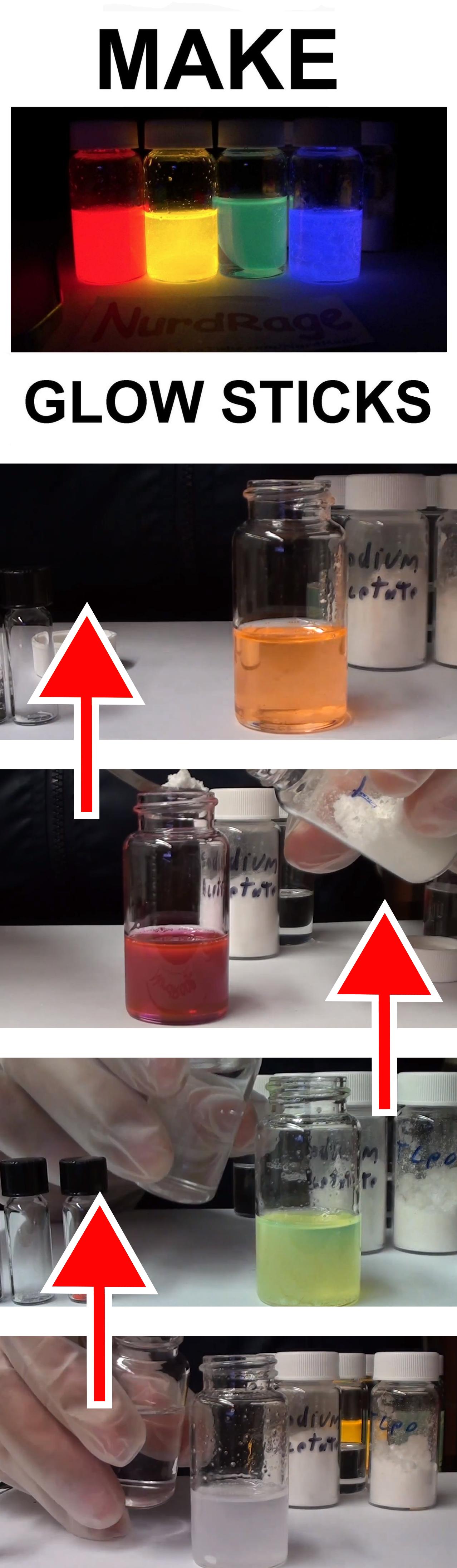 Make Glow Sticks the Science Glow sticks, Chemistry