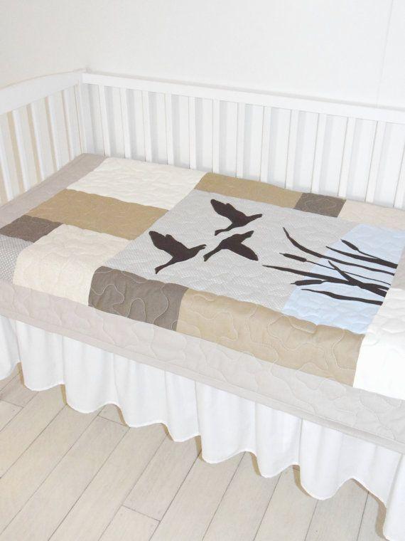 Baby Quilt Hunting Theme Crib Bedding, Duck Hunting Baby Bedding
