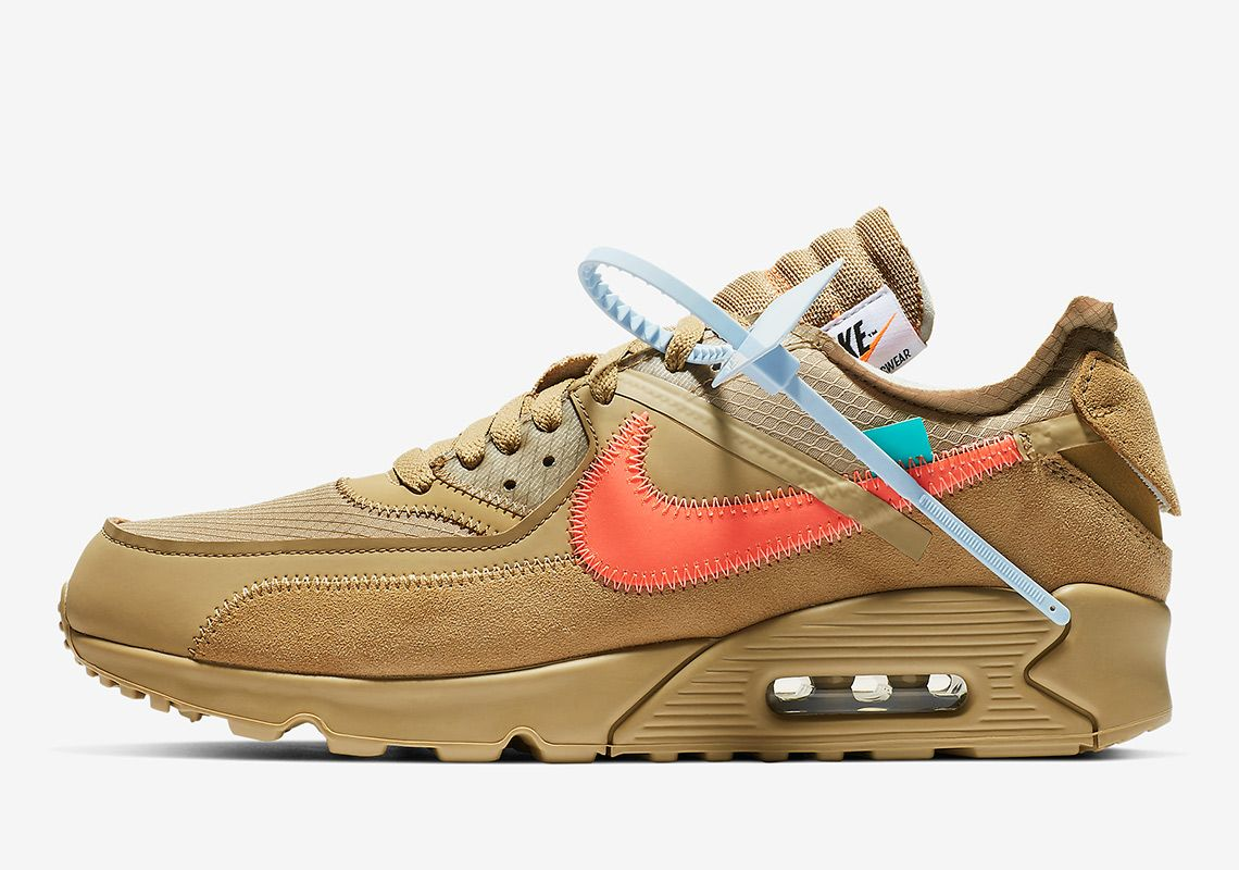 Off White Nike Air Max 90 Desert Ore Aa7293 200 With Images