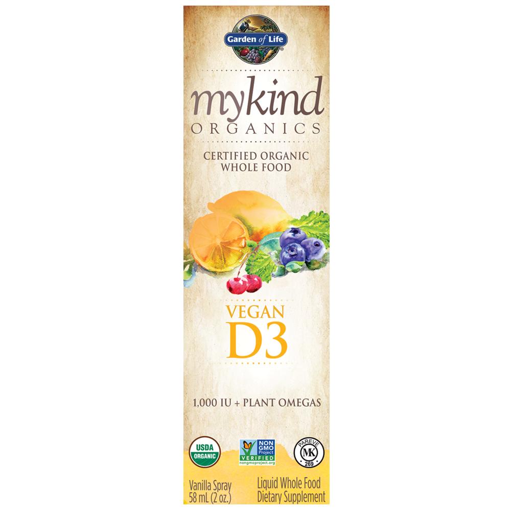 mykind Organics Vegan D3 Organic Spray Vanilla 2 fl oz