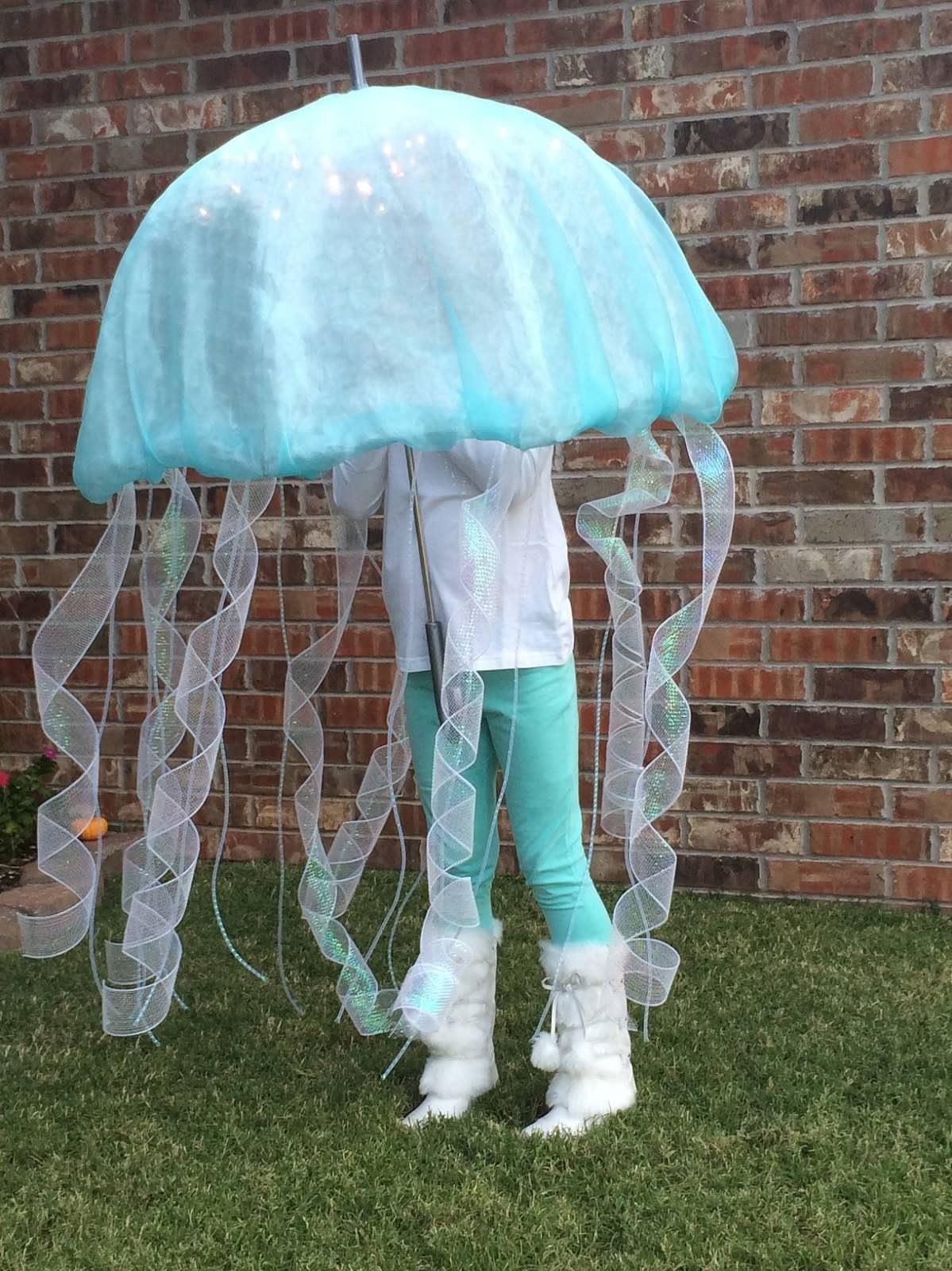 Jellyfish costume. Kate as a Jellyfish was a big hit. Start with a clear & Jellyfish costume. Kate as a Jellyfish was a big hit. Start with a ...