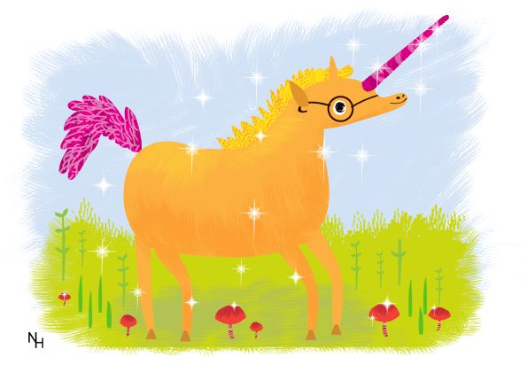 Unicorn illustration by Natalie Hughes www.nataliehughes.co.uk