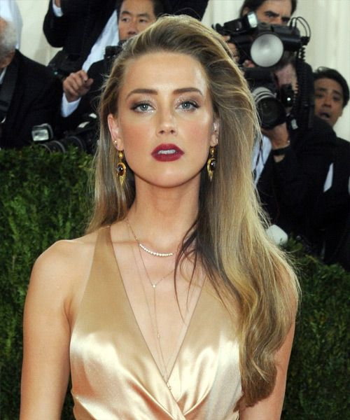 Amber Heard's voluminous eighties-inspired hairstyle - Try on this hairstyle and view styling steps! http://www.thehairstyler.com/hairstyles/formal/long/straight/amber-heard-hairstyle