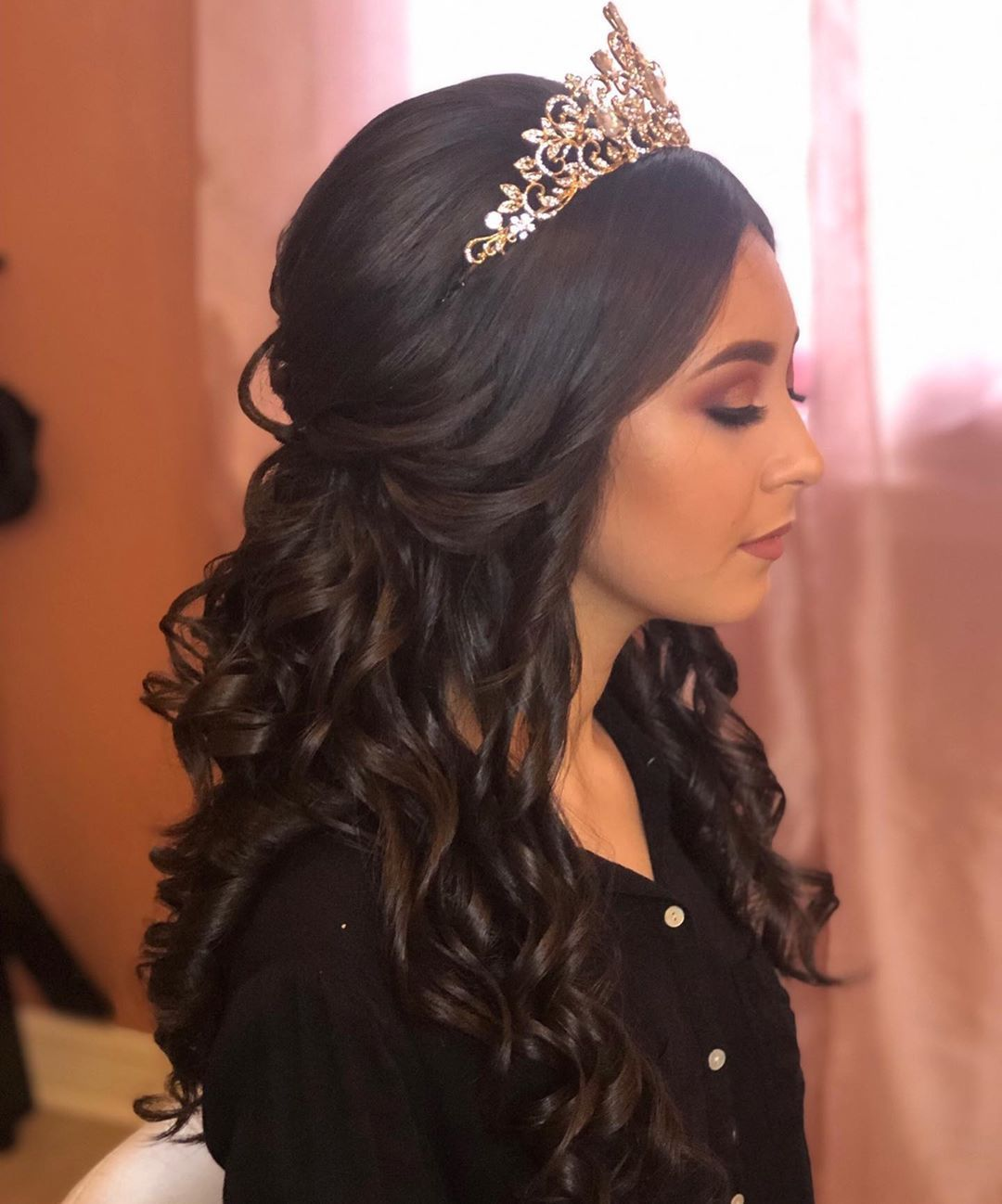 78 Half Up Half Down Quinceanera Hairstyles Hairstyle Half Up Half Down In 2020 Quince Hairstyles Quinceanera Hairstyles Hair Styles