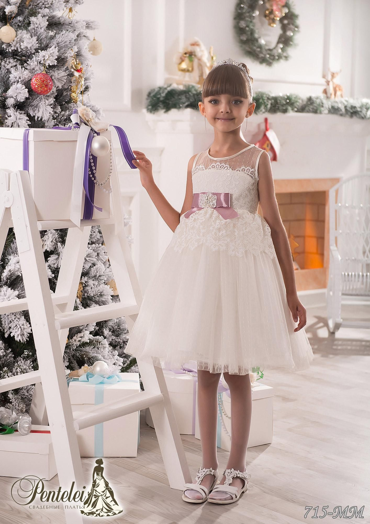 New Pretty Flower Girls Dresses For Weddings Jewel Collar Lace Kids