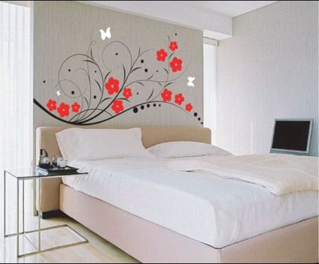 Superieur Bedroom Flowers Wall Decals