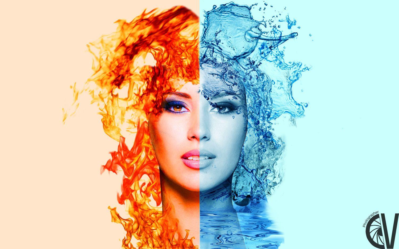 Il fuoco e l'acqua sono due elementi così diversi eppure stanno bene insieme, come il sorriso e la serietà, ricordatevi che le persone che non ridono non sono persone serie. #Fuoco #Acqua
