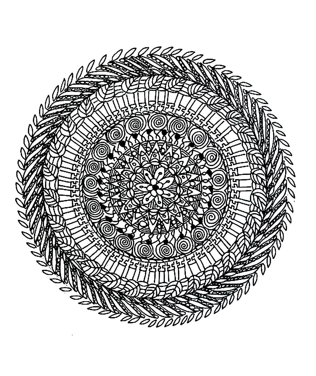 difficult mandala coloring pages coloring home | News to Gow ...