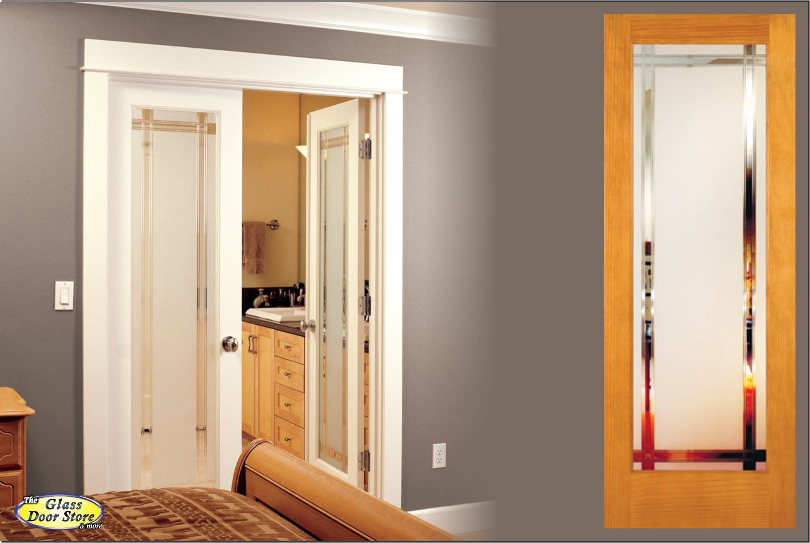Delightful Interior Doors With Glass For Your Home Office, Pantry, Clear Glass With  Etched Design, Or Barn Doors With Decorative Glass Clear Or Textured Custom  Order ...