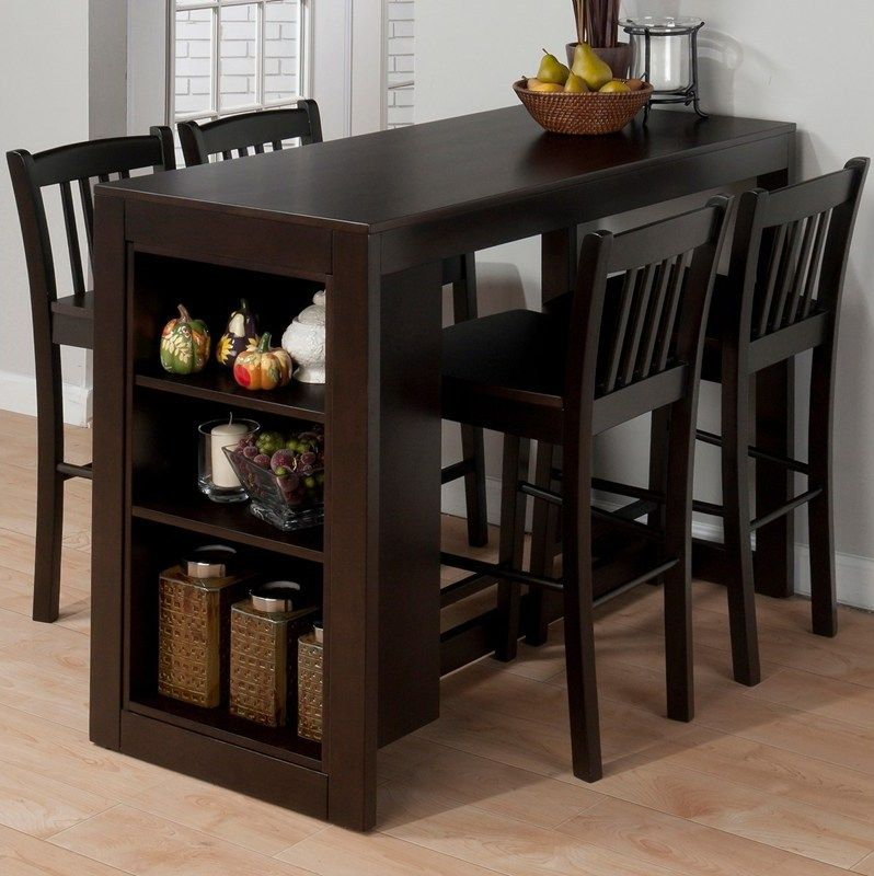 Bar Table And Chairs For Sale: Buy Jofran Maryland Merlot 5 Piece 48x22 Rectangular