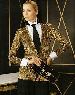 Valentina Zelyaeva for Ralph Lauren FW 2012/ Black Gold