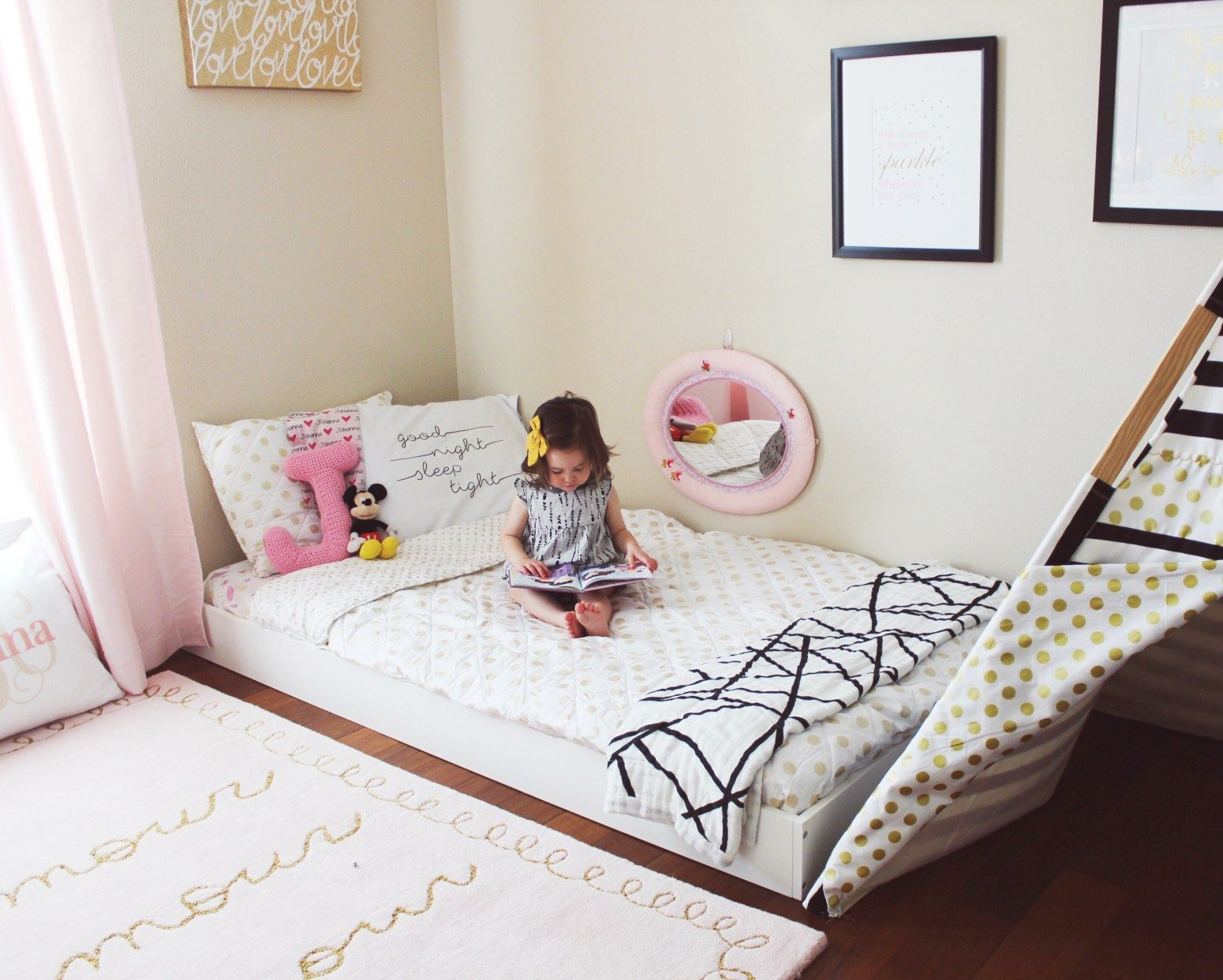 Montessori Floor Bed Toddler bed | Sophias room | Pinterest