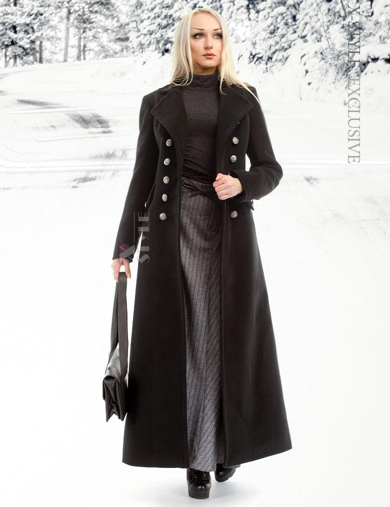 Длинное зимнее кашемировое пальто от Xstyle  e0fe2db6657c9