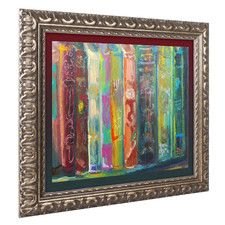 """""""Bookends"""" by Lowell S.V. Devin Framed Painting Print"""