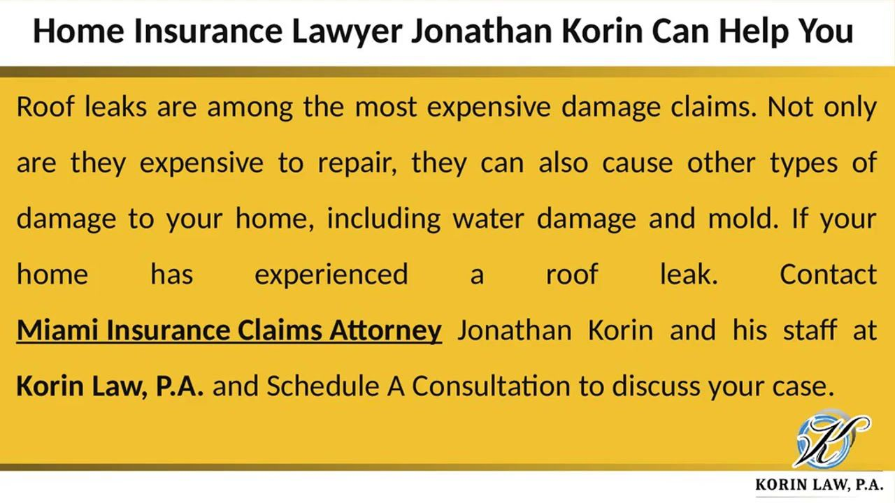 Roof Leaks Are Among The Most Expensive Damage Claims Not Only