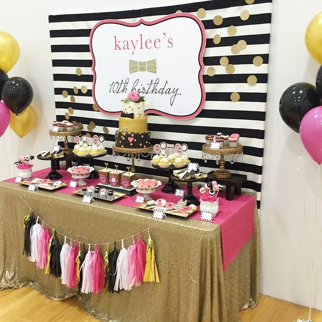 Pink Gold Black Pink Gold Party Adult Birthday Party Gold Party