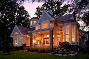 Cape Cod, Shingle style lake home - traditional - exterior - detroit - VanBrouck & Associates, Inc.