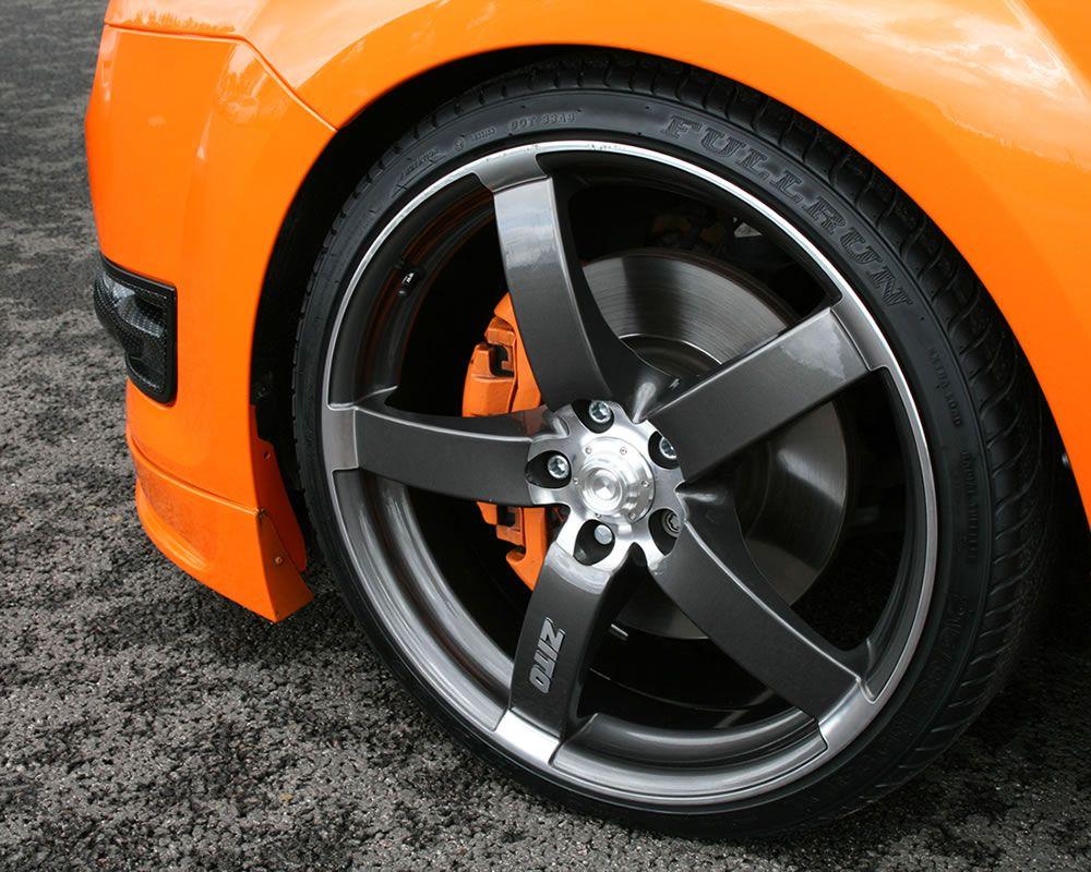 Electric Orange Ford Focus St Mk2 And Huge Grey Rims